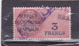 Timbre Fiscal A.E.F Médaillon De Daussy 3 Francs Légende Effilée - A.E.F. (1936-1958)