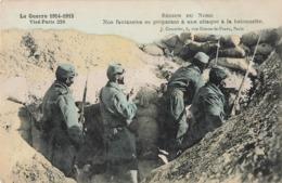 Militaire Guerre 1914 1918 Region Du Nord Nos Fantassins Se Préparant à Une Attaque à La Baionnette Cpa Colorisée 1915 - War 1914-18