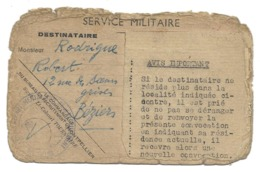 RODRIGUE ROBERT BEZIERS ORDRE CONVOCATION CASERNE ST JACQUES 96 E RI MILITAIRE - Documents