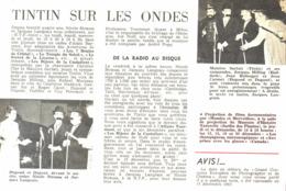 "REPORTAGE "" TINTIN Sur Les ONDES  ""  1963 (4) - Books, Magazines, Comics"