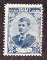 SLOVENIA, KAROL KOTNIK, POSTER STAMP, CIRIL AND METOD SOCIETY, 2.4 X 3.2 Cm - Slovenia