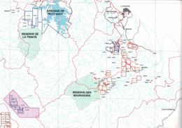 Mines, Mine : (973) Guyane - Titres Miniers Attribués Du Département De Guyane - Mappe