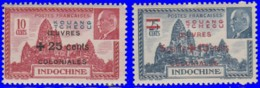 Kouang-Tchéou 1944. ~ YT 156 à 57** - Pétain. Oeuvres Coloniales. - Kouang-Tcheou (1906-1945)