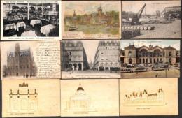 Paris - Lot Sélectionné 79 Cartes (animée, Colorisée, Précurseur, Gaufrée,...petit Prix, Voir Scans) - 5 - 99 Cartes