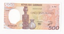 Gabon 500 Francs 1985, Alphabet A.02 N° 954846 , Billet Neuf. - Gabon
