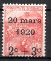 Col18  Monaco N° 34 Neuf X MH  Cote 55,00 € - Monaco