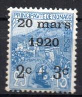 Col18  Monaco N° 35 Neuf X MH  Cote 55,00 € - Unused Stamps