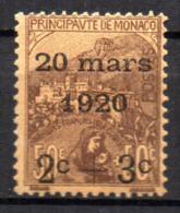 Col18  Monaco N° 36 Neuf X MH  Cote 55,00 € - Monaco