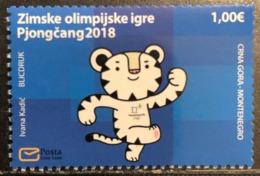Montenegro, 2018, Mi: 421 (MNH) - Inverno 2018 : Pyeongchang