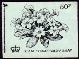Ireland 1971 / Booklet  50 P / Oxfam Charitable Organization, Disabled / Flower Primrose / Queen Elizabeth II MNH - Booklets