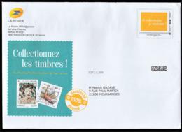 Enveloppe PAP De La Poste, Voyagée, Envoi Demande Abonnement 2019 - Postwaardestukken