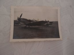 Photo Original Avion Aviation Meknès 1946 Spitfire Mark 5 - Aviation