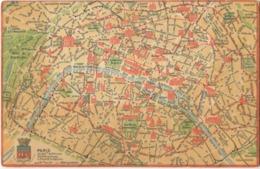 75 Paris Carte De Paris Et Ses Arrondissements Avec Les Principaux Monuments N°2 - Otros
