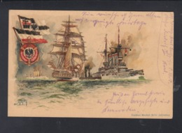 Dt. Reich PK Marine Felspost SMS Kaiser Friedrich III 1914 - Germany