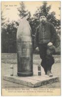 La Grande Guerre Obus Allemand De 420mm Relevé Non éclaté Aux Environs De VERDUN - Guerra 1914-18