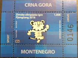 Montenegro, 2018, Mi: Block 23 (MNH) - Inverno 2018 : Pyeongchang