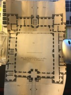 Rare Plan Du 18e Siècle Du Chateau De Coulommiers En Brie (77) Bati Par Le Sr Salomon De Brosse -Détruit à La Révolution - Architecture