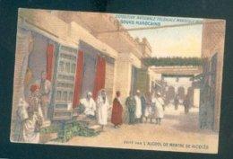 CPA FRANCE MAROC MARSEILLE EXPOSITION COLONIALE 1922 SOUKS MAROCAINS ECRITE TB PUB RICQLES - Expositions Coloniales 1906 - 1922