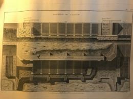Rare Plan Du 18e Ou 19e Siècle De L'élévation D'une Ecluse Non Située - Thème Canal Batellerie Navigation - Architecture