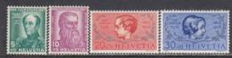 Switzerland 1937 - Pro Juventute, Mi-Nr. 314/17, MNH** - Switzerland