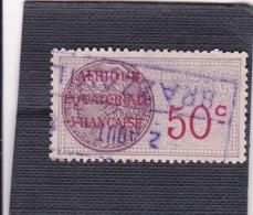 Timbre Fiscal A.E.F Médaillon De Daussy 50 C Légende Effilée - A.E.F. (1936-1958)