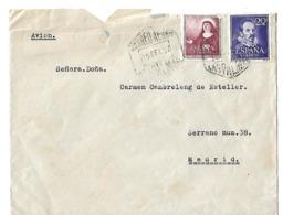 Carta Por Vía Aérea Las Palmas-Madrid, 1952 - Aéreo