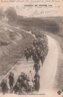 Militaire Guerre 1914 1918 Régiment D' Infanterie En Marche Serie Croquis De Guerre 1914 - Oorlog 1914-18