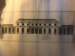 Rare Plan Du 18e Ou 19e Siècle De L'élévation De L'Hotel De Noailles à Saint Germain En Laye - Architecture