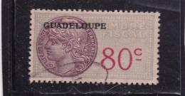 GuadeloupeTimbre Fiscal Médaillon De Tasset  80 C - Guadeloupe (1884-1947)