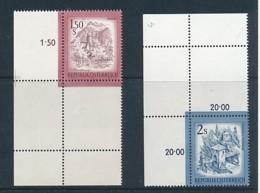 ÖSTERREICH Mi. Nr. 1439,1440 Freimarken: Schönes Österreich - Leerfeld - Eckrand - Siehe Scan - MNH - 1945-.... 2. Republik