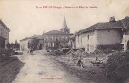 Vosges - Escles - Presbytère Et Place Du Marché - Francia