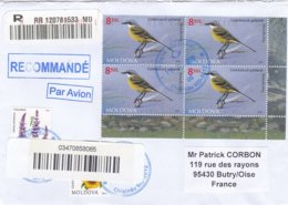 Moldavie Lettre Recommandée 2019 Oiseaux - Moldavie