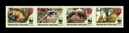 Togo 2019 Mih. 10600I/03I Fauna. WWF. Tree Pangolins (red Overprint 825) MNH ** - Togo (1960-...)