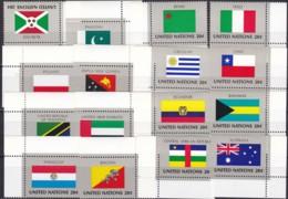 UNO-New York, 1984,  448/63,  MNH **,   Flaggen Der UNO-Mitgliedstaaten (V). - New-York - Siège De L'ONU