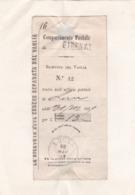 RICEVUTA DEL VAGLIA - UFFICIO POSTALE FIRENZE - COMPARTIMENTO POSTALE LUCCA - EMESSO 1869 - 1861-78 Victor Emmanuel II.