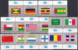 UNO-New York, 1985,  472/87,  MNH **,   Flaggen Der UNO-Mitgliedstaaten (VI). - New-York - Siège De L'ONU