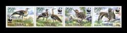 Togo 2019 Mih. 10608I/11I Fauna. WWF. Birds. Denham's Bustards (green Overprint 825) MNH ** - Togo (1960-...)
