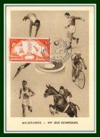 Monaco Carte Maximum N° 443 Jeux Olymiques D' Ete Melbourne 1956 - Summer 1956: Melbourne