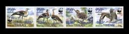 Togo 2019 Mih. 10608II/11II Fauna. WWF. Birds. Denham's Bustards (dark Blue Overprint 825) MNH ** - Togo (1960-...)
