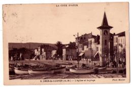 6063 - Cros De Cagnes ( 06 ) - L'Eglise Et La Plage - N°2 - Phot. Munier - - Sonstige Gemeinden