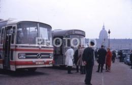 1968 PARIS GENEVE MERCEDES BENZ O 302 BUS AUTOBUS FRANCE 35mm AMATEUR DIAPOSITIVE SLIDE Not PHOTO No FOTO B4933 - Diapositives