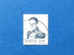 1999 VENEZUELA FRANCOBOLLO USATO STAMP USED ORDINARIO BS 900 - Venezuela