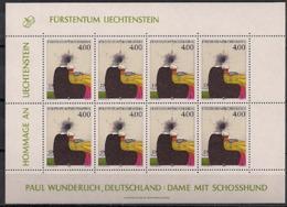1995 Liechtenstein   Mi. 1123 **MNH    Hommage An Liechtenstein: Zeitgenössische Kunst - Blocks & Kleinbögen