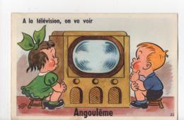 ANGOULEME - 16 - Charente - Carte à Système BOZZ - Enfants - 10 Vues Dans La Télévision - Angouleme