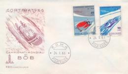 Italia Italy 1966 FDC CAPITOLIUM Campionati Mondiali Di Bob World Bobsleigh Championships - Wintersport (Sonstige)