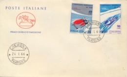 Italia Italy 1966 FDC CAVALLINO Campionati Mondiali Di Bob World Bobsleigh Championships - Wintersport (Sonstige)