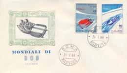Italia Italy 1966 FDC RODIA Campionati Mondiali Di Bob World Bobsleigh Championships - Wintersport (Sonstige)