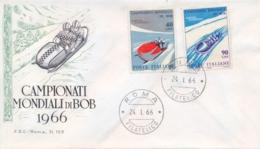 Italia Italy 1966 FDC ROMA Campionati Mondiali Di Bob World Bobsleigh Championships - Wintersport (Sonstige)