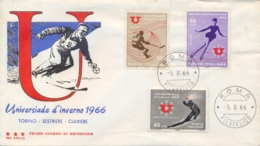 Italia Italy 1966 FDC TRE STELLE Universiadi Invernali A Torino Winter University Sports Games In Turin - Wintersport (Sonstige)