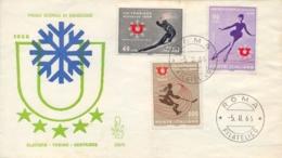 Italia Italy 1966 FDC VENETIA Universiadi Invernali A Torino Winter University Sports Games In Turin - Wintersport (Sonstige)